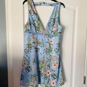 H&M Divided Blue Floral Dress New
